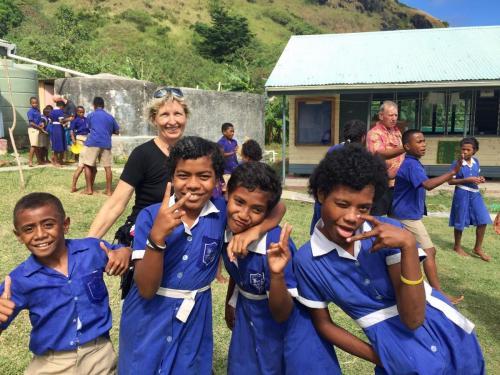 The kids at Kia Island
