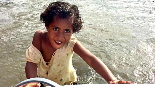 Our beautiful little helper at Navatu Bay