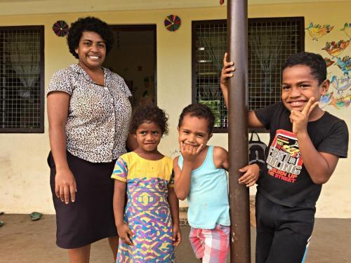 Children & Teacher at Nadi Bay